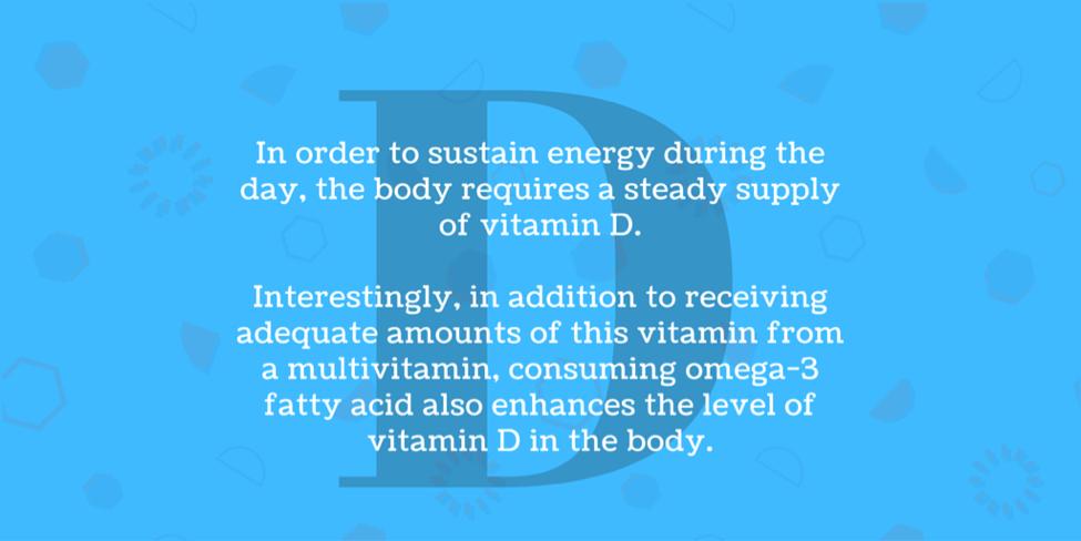 Omega 3 fatty acids enhance level of vitamin D in body.
